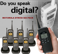 Motorola DTR-550 Vibra Alert Digital On-Site Two-Way Radios For Small Business. The better a team communicates and stays in touch. Let get some work done!  Professional 8 pack of radios.