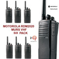 Motorola Six Pack of Professional RDM2020 MURS RDX Series - 2 Watt, 2 Channel VHF (MURS Channels) Walkie-Talkie with Free Shipping.