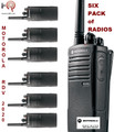 The Motorola SIX PACK of RVM2020 radios comes complete pre-loaded with 27 VHF frequencies. This six pack of radios is a great value.
