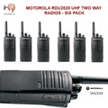 This Six Pack of Motorola RDU2020 radios comes complete pre-loaded with 89 UHF frequencies. Great durable hard working business radio for your company needs.
