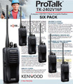 Kenwood TK-2402VK Compact VHF FM 5-Watt Portable Radios are a great value when purchased in Six Packs.