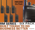 Empower your team with a faster way to communicate. The RMV2080 Six Pack of on-site two-way business radios help you communicate instantly, without missing a beat. This 2 watt radio operates on 27 VHF business exclusive frequencies and is FCC Narrowband ready.