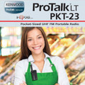 The new ProTalk PKT-23 offers a progressive design and is built business tough. In addition, like all Kenwood radios, the PKT-23 has excellent enhanced audio.  Plus it's tiny!