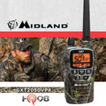 Midland GXT-2050-VP4 has an amazing 5 watts of power, allowing for a range of up to 36 miles.