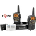 MIDLAND LXT535VP3 22-Channel Camo GMRS Radio Pair Value Pack with Drop-in Charger & Rechargeable Batteries. UPC: 046014505353