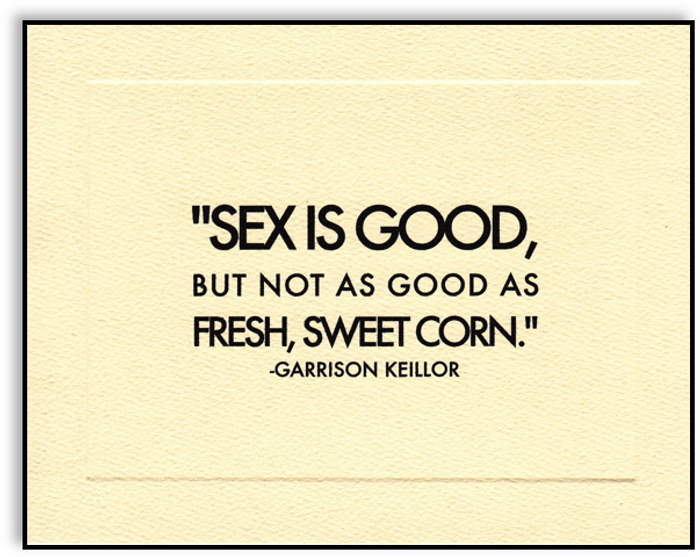Greeting Card - Fresh, Sweet Corn