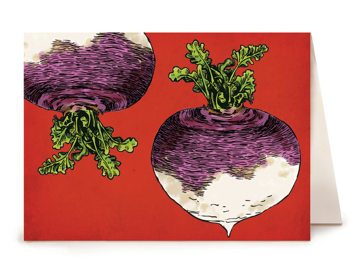 Turnip Greeting Card - Watercolor Series