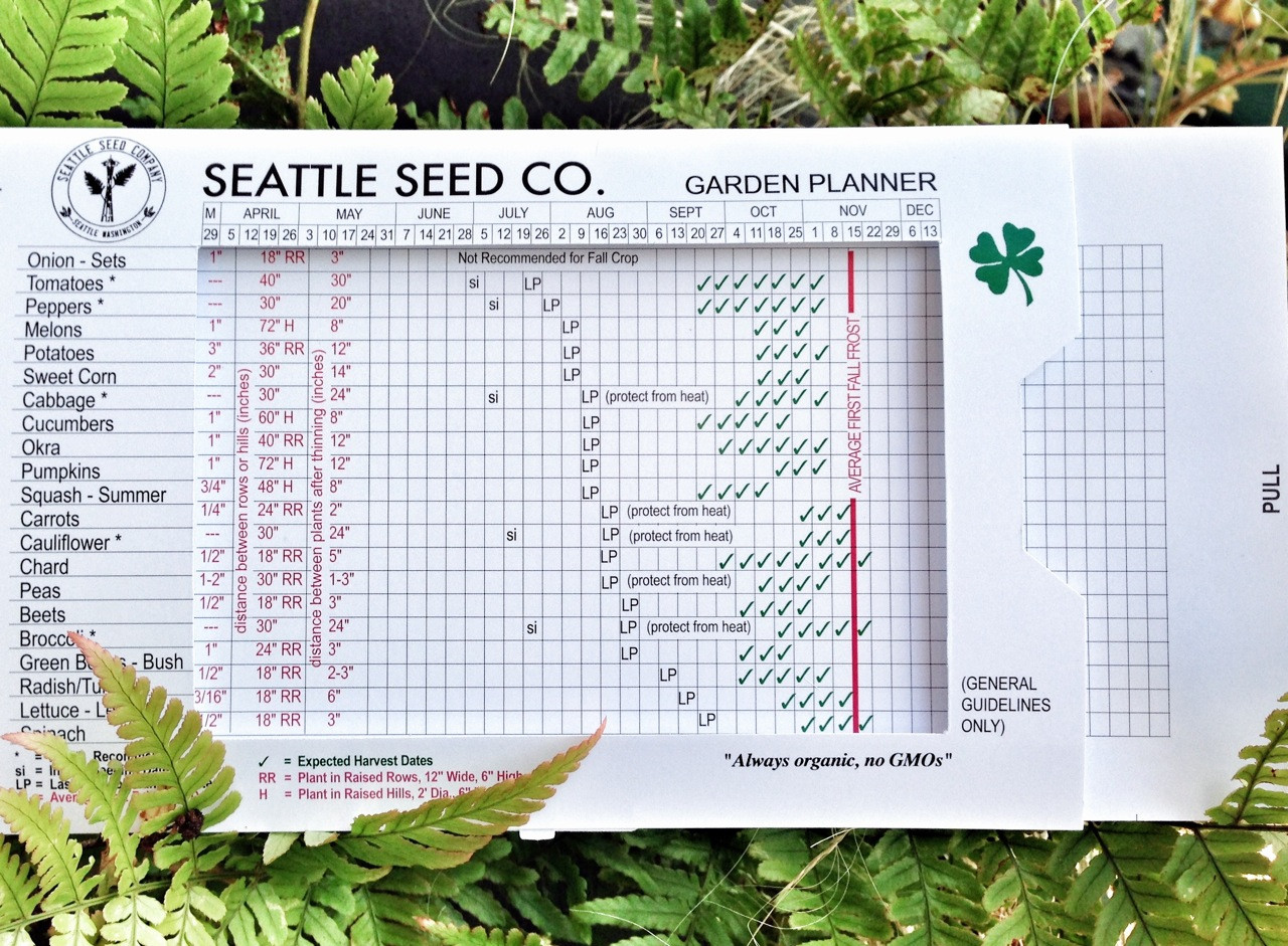 Year Round Garden Planner From Seattle Seed Co
