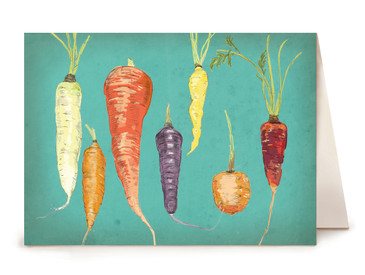 Carrot Greeting Card - Watercolor Series