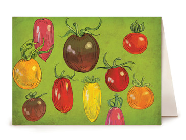 Tomato Greeting Card - Watercolor Series