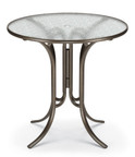 "Telescope Casual 42"" Round Glass Counter Height Table"