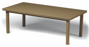 "Telescope Casual 42""x84"" Rectangular Marine Grade Polymer Dining Table"