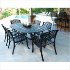 "Crossweare 82"" Oval Dining Table Set"