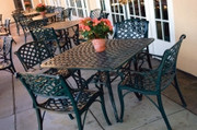 "Three Coins Crossweave 38"" Square Patio Table"