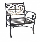 Three Coins Fleur de Lis Chair