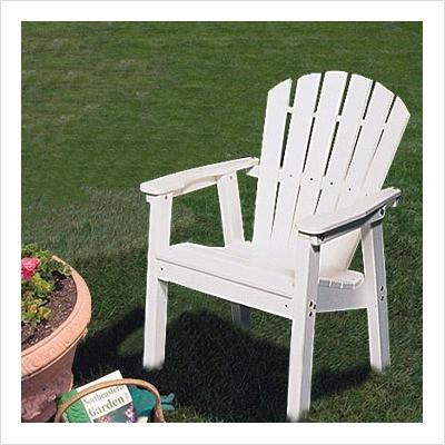 Adirondack Shell Back Deck Chair   EnviroWood