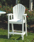 Seaside Casual Classic Adirondack Bar Chair - EnviroWood