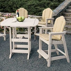 """Seaside Casual Portsmouth 42"""" x 72"""" Bar Table - EnviroWood"""