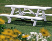 Seaside Casual Traditional Picnic Table - EnviroWood