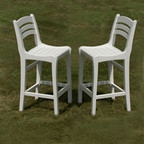 Seaside Casual Charleston Bar Chairs- Set of Two
