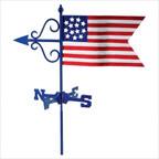 Cottage Weathervane Americana Flag