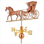 Full Size Weathervane Country Doctor in Polished