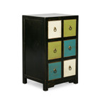 Royola Pacific Designs Six Drawer Side Table