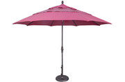 Treasure Garden Aluminum 11' Octagon Collar Tilt Umbrella, single wind vent