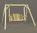 Rustic Cedar American 4' Garden Swing Seat and Frame