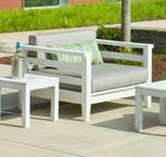 Seaside Casual Cambridge Armless/Club Chair Cushion