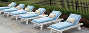 "Seaside Casual Kingston 4"" Chaise Cushion"