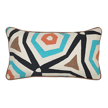 Mendi Applique Toss Pillow