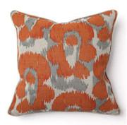 African Leopard Print Orange Toss Pillow