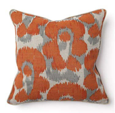 African Leopard Print Orange Toss Pillow