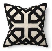 Khwai Applique Black Toss Pillow