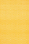 Dash & Albert Diamond Canary/White Indoor/Outdoor Rug