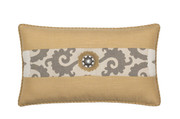 Elaine Smith Jeweled Sedona Gold Toss Pillow