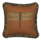 Elaine Smith Dragonfly Nutmeg Toss Pillow