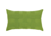 Elaine Smith Basketweave Ginkgo Toss Pillow