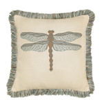 Elaine Smith Dragonfly Spa Toss Pillow
