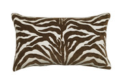 Elaine Smith Chocolate Zebra Lumbar Pillow