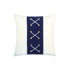 Elaine Smith Navy Laced toss pillow