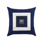 Elaine Smith Navy Cruise Jewel toss pillow
