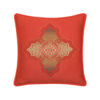 Elaine Smith Coral Medallion toss pillow