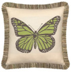 Elaine Smith Butterfly Peridot toss pillow