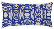 Elaine Smith Cobalt Block Lumbar pillow