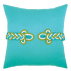 Elaine Smith Aruba Frog's Clasp Toss Pillow