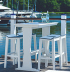 "Seaside Casual SYM 25"" x 50"" Pub Table - EnviroWood"