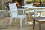 Uwharrie Hourglass Dining Chair with Arms in White
