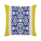 Elaine Smith Cobalt Block toss pillow